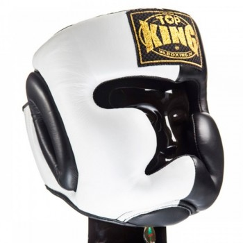 BOXING HEADGEAR TOP KING TKHGEC-LV EXTRA COVERAGE WHITE BLACK