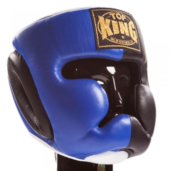 BOXING HEADGEAR TOP KING TKHGEC-LV EXTRA COVERAGE BLUE BLACK