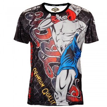 "T-Shirts Muay Thai ""Born to Be"" PSBT-25 Tech Quick Dry Wicking"