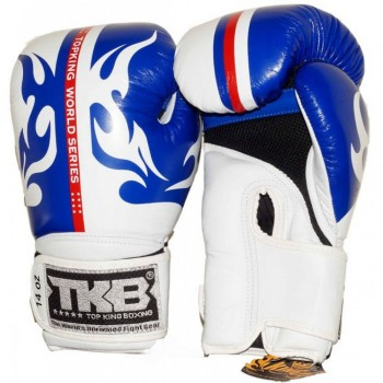 "BOXING GLOVES TOP KING  ""WORLD SERIES""  WHITE-BLUE"