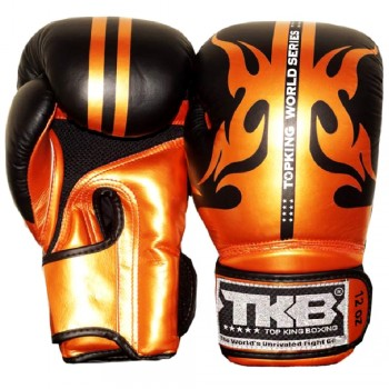 "BOXING GLOVES TOP KING  ""WORLD SERIES""  BLACK-GOLD"