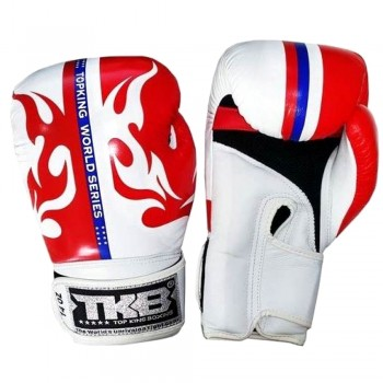 "BOXING GLOVES TOP KING  ""WORLD SERIES""  RED-WHITE"