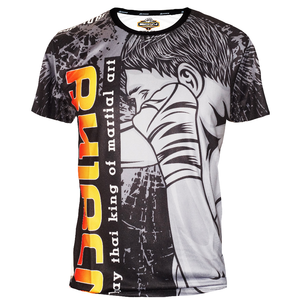 """T-SHIRTS MUAY THAI """"BORN TO BE"""" PSBT-05 TECH QUICK DRY WICKING"""