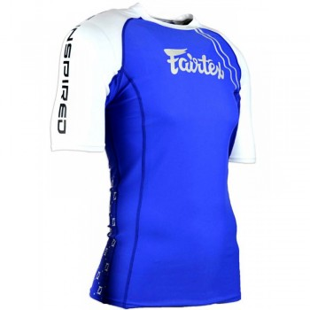 Rash Guard Fairtex RG2 Blue Short Sleeve