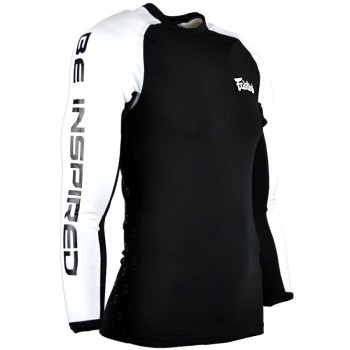 Rash Guard Fairtex RG1 Black-White Long Sleeve