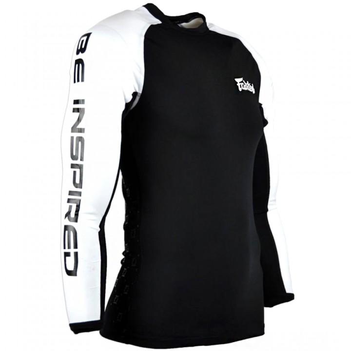 Rash Guard Fairtex RG1 Black-White Long Sleeve