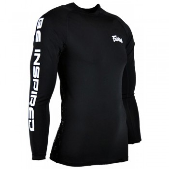 Rash Guard Fairtex RG1 Black Long Sleeve