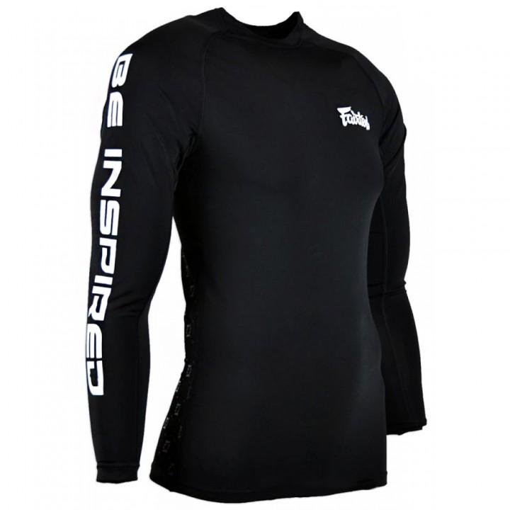 Rash Guard Fairtex RG1 Black Long Sleeve