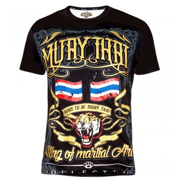 "T-Shirts Muay Thai ""Born to Be"" Cotton Color ""Thai Tiger"""