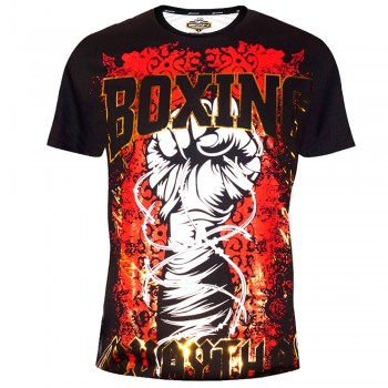 "T-SHIRTS MUAY THAI ""BORN TO BE"" COTTON Color ""Fist Wire"""