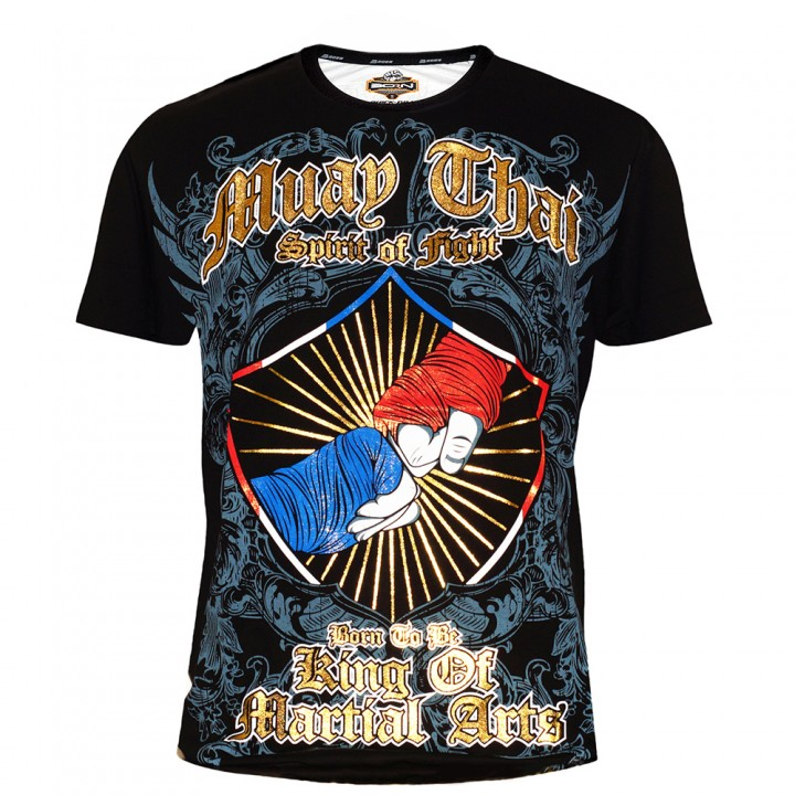 """T-Shirts Muay Thai """"Born to Be"""" Cotton Color """"2 Fist"""""""