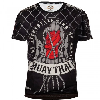 "T-SHIRTS MUAY THAI ""BORN TO BE"" TECH QUICK DRY WICKING COLOR  ""OKTAGON ROPE"""