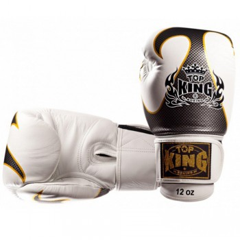 BOXING GLOVES TOP KING EMPOWER CREATIVITY TBKGEM-01 WHITE-SILVER