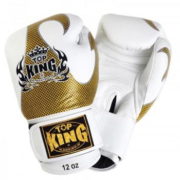 BOXING GLOVES TOP KING EMPOWER CREATIVITY TBKGEM-01 WHITE-GOLD