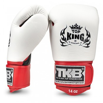BOXING GLOVES TOP KING ULTIMATE TKBGUV WHITE-BLACK-RED