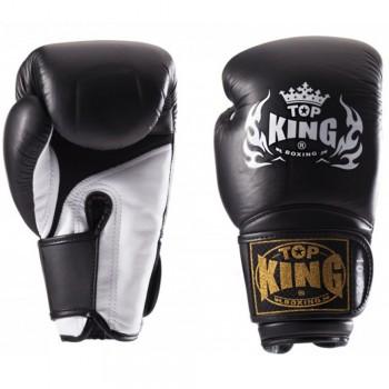"BOXING GLOVES TOP KING TKBGSA ""SUPER AIR"" BLACK-WHITE"