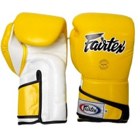 BOXING GLOVES FAIRTEX BGV6 WHITE YELLOW