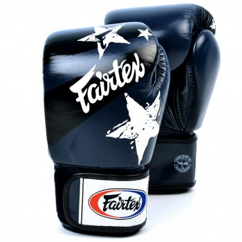 Boxing Gloves Fairtex BGV1 Nation Print Blue
