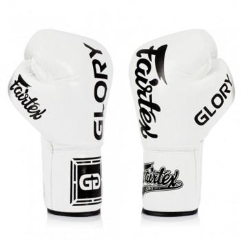 Boxing Gloves Fairtex Glory BGLG2 White Lace Up